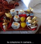 La nostra colazione in camera